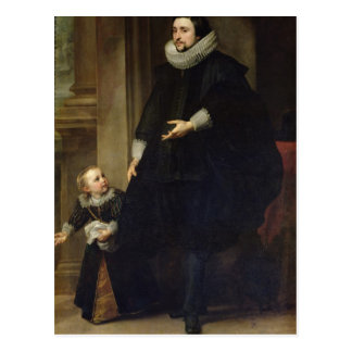Portrait of a Nobleman and his Child Postcard