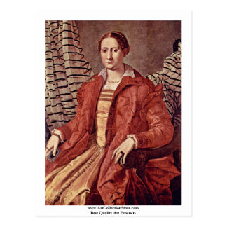 Portrait Of A Noblewoman   By Bronzino Angelo Postcard