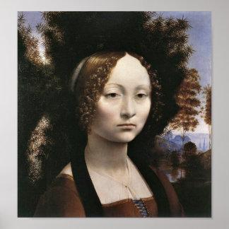 Portrait of a noblewoman by Leonardo da Vinci Poster