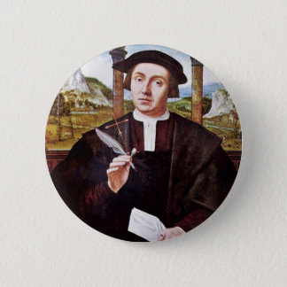 Portrait Of A Notary By Quentin Massys 2 Inch Round Button