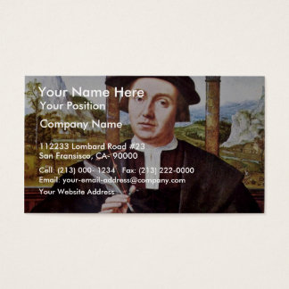 Portrait Of A Notary By Quentin Massys Business Card