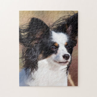 Portrait Of A Papillon Sitting In The Wind Jigsaw Puzzle