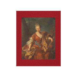 Portrait of a Parisian lady c.1680, h. Rigaud Canvas Print
