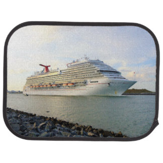 Portrait of a Passing Cruise Ship Floor Mat