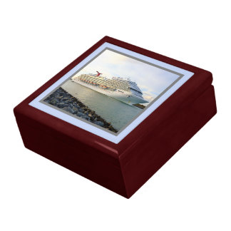 Portrait of a Passing Cruise Ship Gift Box