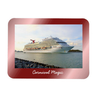 Portrait of a Passing Cruise Ship Magnet