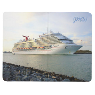 Portrait of a Passing Cruise Ship Monogrammed Journal
