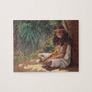 Portrait of a Polynesian Girl - Helen T. Dranga Jigsaw Puzzle