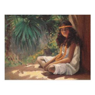 Portrait of a Polynesian Girl - Helen T. Dranga Postcard