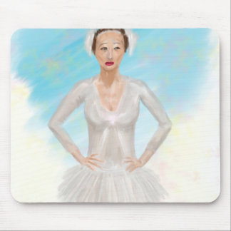 Portrait of a Prima Ballerina - Painting Mouse Pad