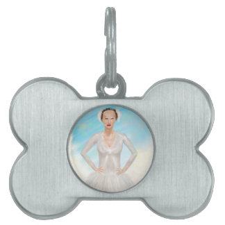 Portrait of a Prima Ballerina - Painting Pet Name Tags