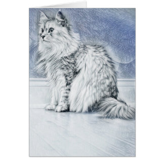 Portrait of a Siberian Note Card