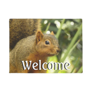 Portrait of a Squirrel Nature Animal Photography Doormat