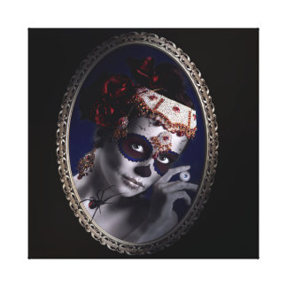 Portrait of a Sugarskullgirl Canvas Print