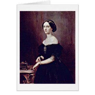 Portrait Of A Venetian By Francesco Hayez Card