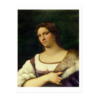 Portrait of a Woman, 1512 (oil on canvas) Postcard