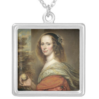 Portrait of a Woman 2 Silver Plated Necklace