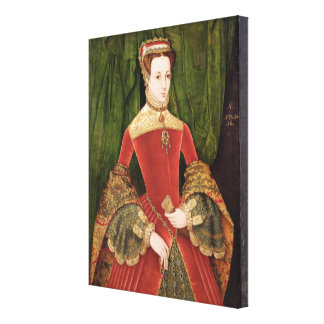 Portrait of a Woman, aged 16, previously identifie Canvas Print