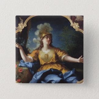 Portrait of a Woman as Minerva, 1730 2 Inch Square Button