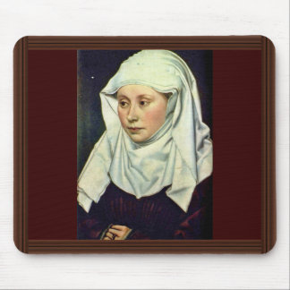 Portrait Of A Woman By Robert Campin Mouse Pads