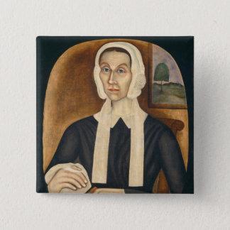 Portrait of a Woman, c. 1845 (oil on canvas) 2 Inch Square Button