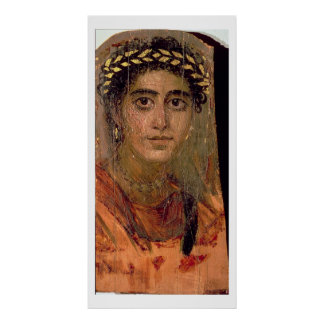 Portrait of a Woman, from Fayum, Romano-Egyptian, Poster