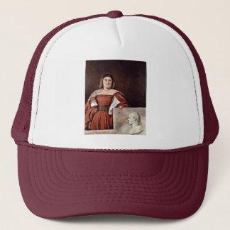 Portrait Of A Woman (La Schiavona) By Tizian Trucker Hat