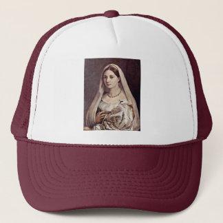 Portrait Of A Woman (La Velata) By Raffael Trucker Hat