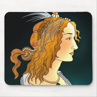 Portrait of a Woman Mouse Pad