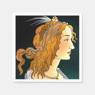 Portrait of a Woman  Napkins Paper Napkins