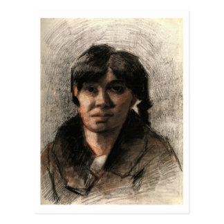 Portrait of a Woman, Van Gogh Fine Art Painting Postcard