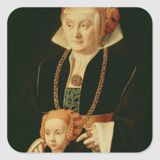 Portrait of a Woman with her Daughter Stickers