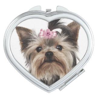 Portrait of a Yorkshire Terrier dog Vanity Mirror