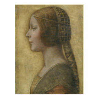 Portrait of a Young Fiancee by Leonardo da Vinci Postcard