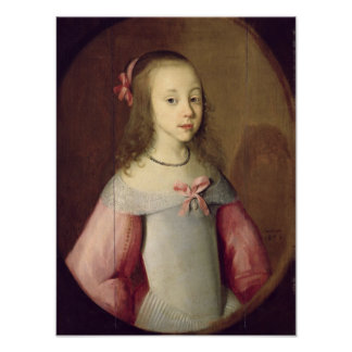 Portrait of a Young Girl, 1651 Poster