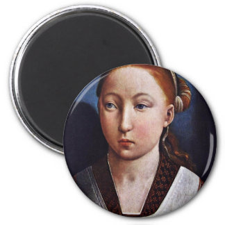 Portrait Of A Young Girl (Joanna The Mad?) By Flan Magnet
