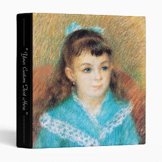 Portrait of a Young Girl Pierre Auguste Renoir art Vinyl Binders