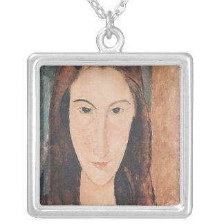Portrait of a Young Girl Silver Plated Necklace