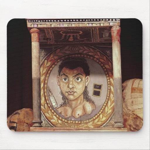 Portrait of a young girl with offerings mousepads