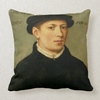 Portrait of a Young Man, 1528 Throw Pillow