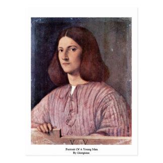 Portrait Of A Young Man By Giorgione Postcard