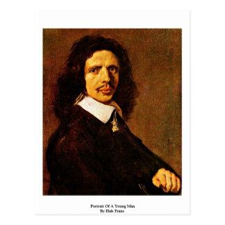 Portrait Of A Young Man By Hals Frans Postcard