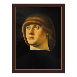 Portrait of a Young Man by Jacometto Veneziano Postcard