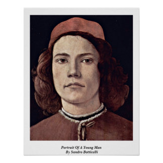 Portrait Of A Young Man By Sandro Botticelli Poster