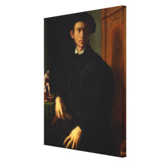 Portrait of a young man, c.1532-40 (oil on panel) canvas print