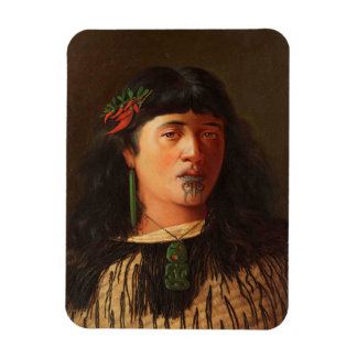 'Portrait of a Young Maori Woman with Moko' Magnet