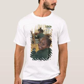 Portrait of a young schoolgirl smiling, KwaZulu T-Shirt