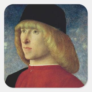 Portrait of a Young Senator, 1485-90 Square Sticker
