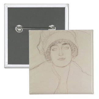 Portrait of a Young Woman 2 Inch Square Button