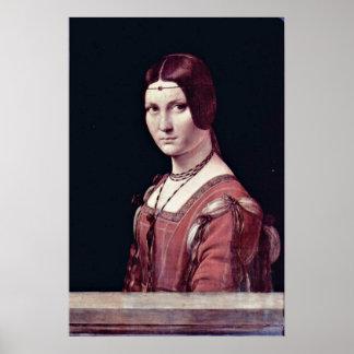 Portrait of a Young Woman by da Vinci Poster